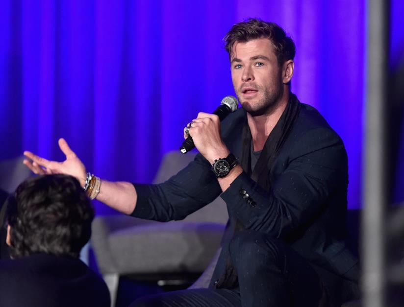 Chris Hemsworth durante il tour promozionale di Avengers: Endgame