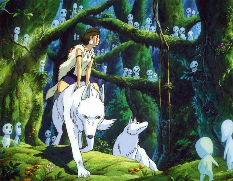 San sulla lupa Moro nella foresta