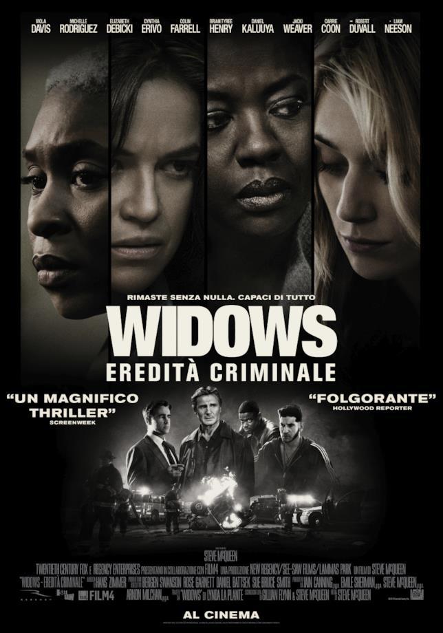 la locandina italiana di Widows eredità criminale