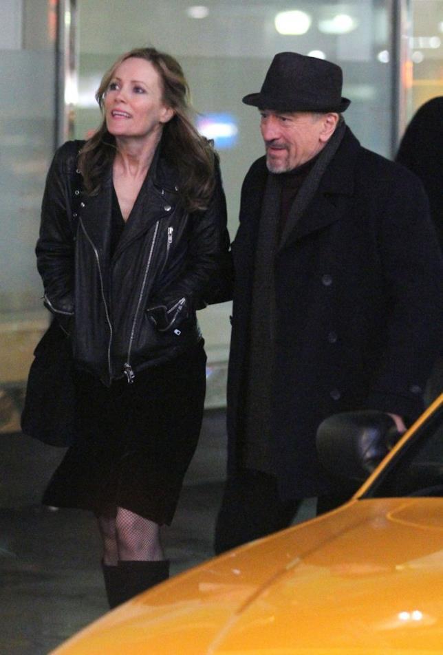Robert De Niro e Leslie Mann sul set di The Comedian