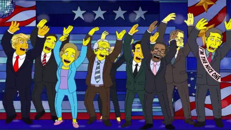 Uno screen da The Simpsons: The Debateful Eight