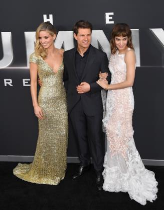 Sofia Boutella, Tom Cruise e Annabelle Wallis, alla prima di La Mummia