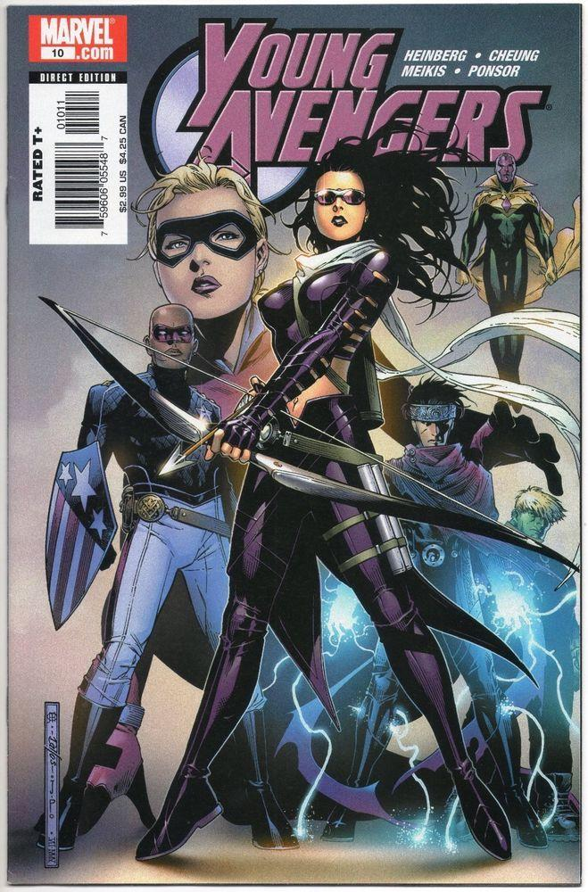 La copertina del fumetto Young Avengers con Hawkeye