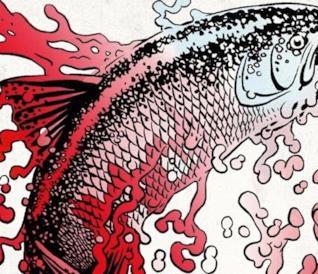 Un pesce sulla copertina del nuovo libro di Palahniuk, L'esca