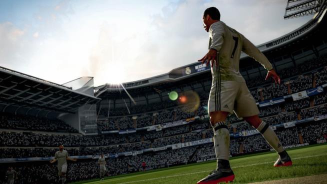 Una foto in-game di FIFA 18