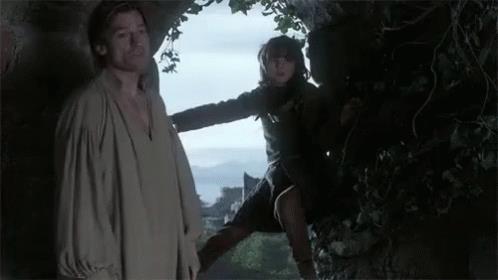 Nikolaj Coster-Waldau e Isaac Hempstead-Wright in Game of Thrones