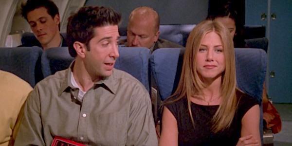 Ross e Rachel in una scena di Friends