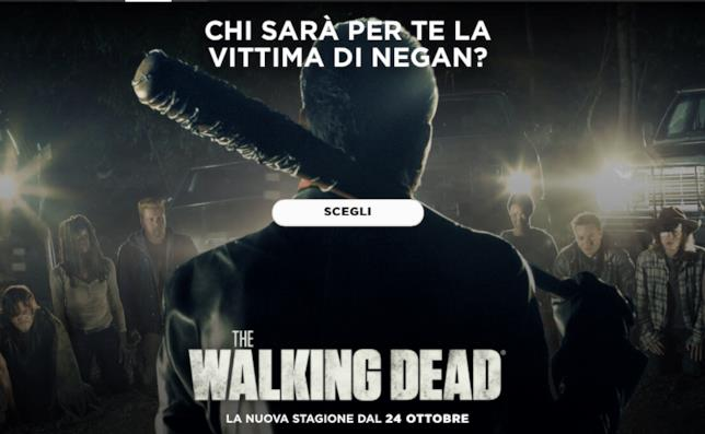 Scegli la vittima di Negan in The Walking Dead