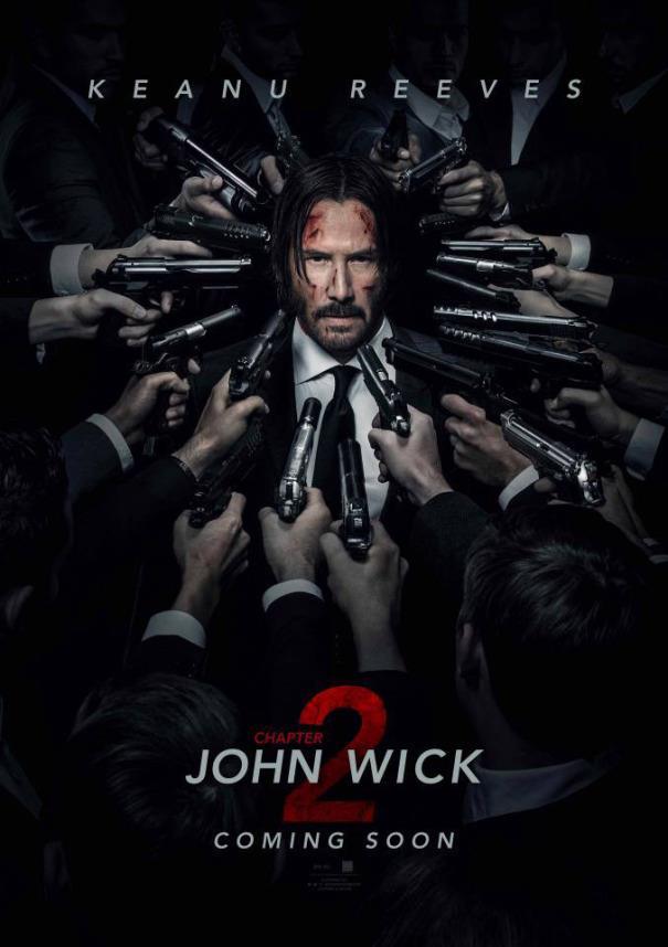 Keanu Reeves nel poster di John Wick 2