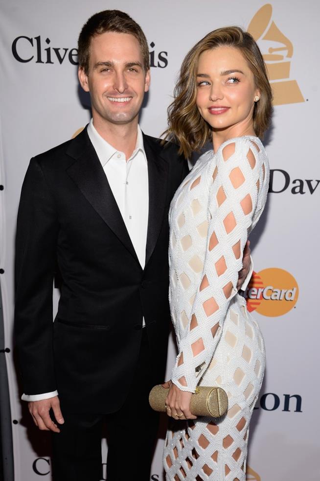 Evan Spiegel con Miranda Kerr