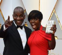 Viola Davis insieme al marito Julius Tennon agli Oscar