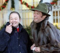 De Sica e Boldi in una scena di Vacanze di Natale '91