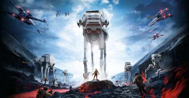Azione e sparatorie nella cover ufficiale del primo Star Wars Battlefront