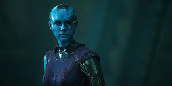 Karen Gillan nel ruolo di Nebula
