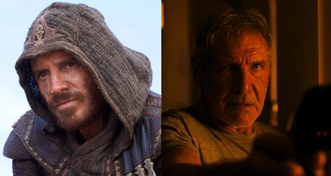 Michael Fassbender e Harrison Ford protagonisti di due dei dieci titoli più attesi del 2017