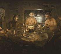 La famiglia Baker di Resident Evil 7 pasteggia con sangue ed interiora