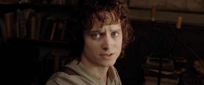 Elijah Wood nei panni di Frodo