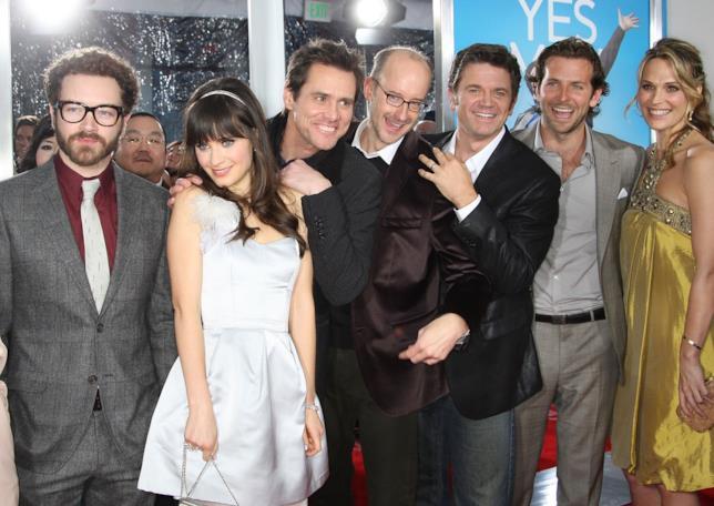 Danny Masterson, Zooey Deschanel, Jim Carrey, il regista Peyton Reed, John Michael Higgins, Bradley Cooper e Molly Sims