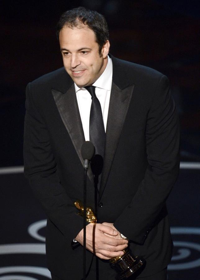 Simon Chinn alla cerimonia degli Oscar