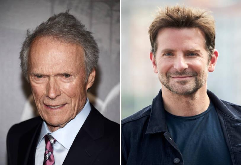 Collage di Clint Eastwood e Bradley Cooper