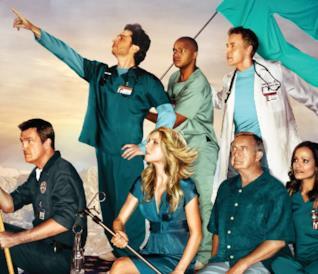 L'Inserviente, J.D., Elliot, Turk, il Dr. Cox, il Dr. Kelso e Carla da Scrubs