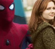 Un collage tra il nuovo Spider-Man e Kirsten Dunst