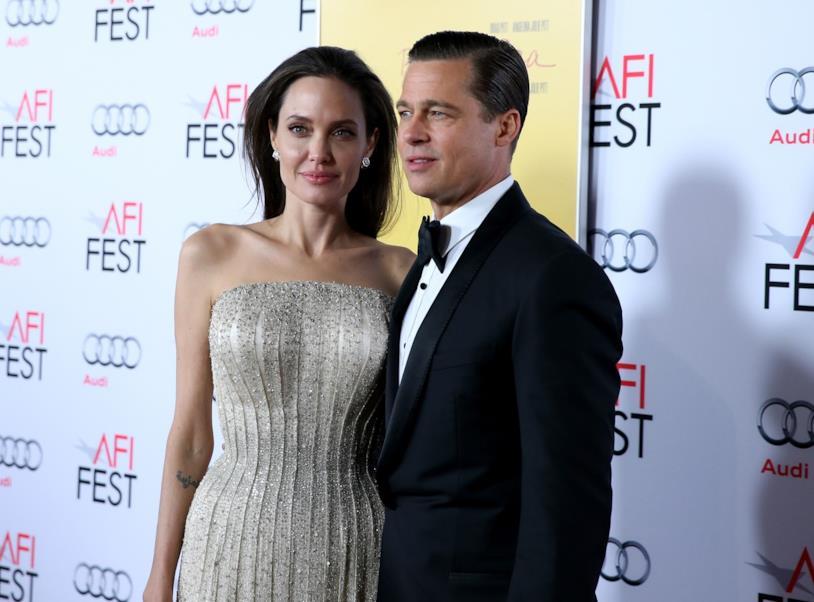 Brad Pitt con l'ex compagna Angelina Jolie