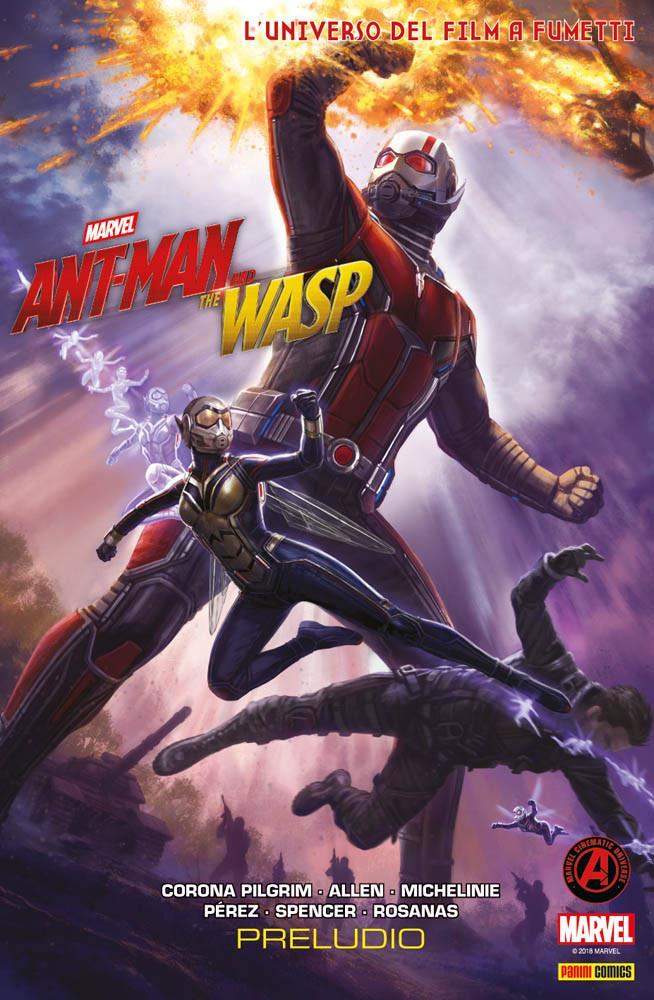 I due supereroi sulla copertina di Marvel's Ant-Man & The Wasp Preludio