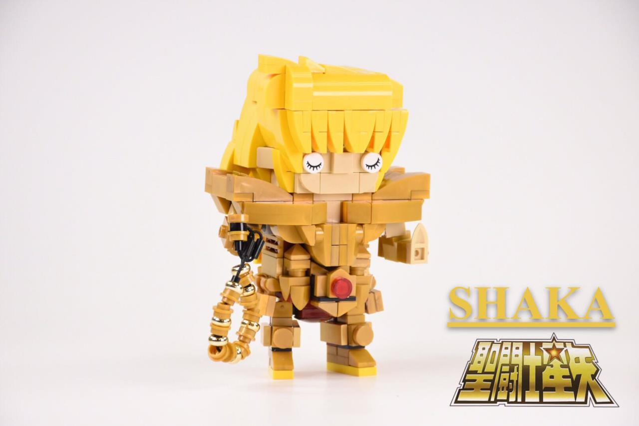 Dettagli del set Brickheadz LEGO con il Cavaliere della Vergine