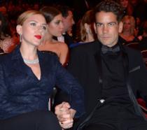 Un vecchio scatto di Scarlett Johansson e Romain Dauriac