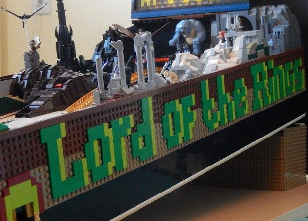 Dettagli del flipper di LEGO a tema Il Signore degli Anelli