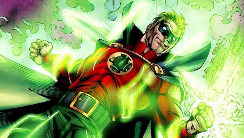 Il supereroe Green Lantern nella persona di Alan Scott