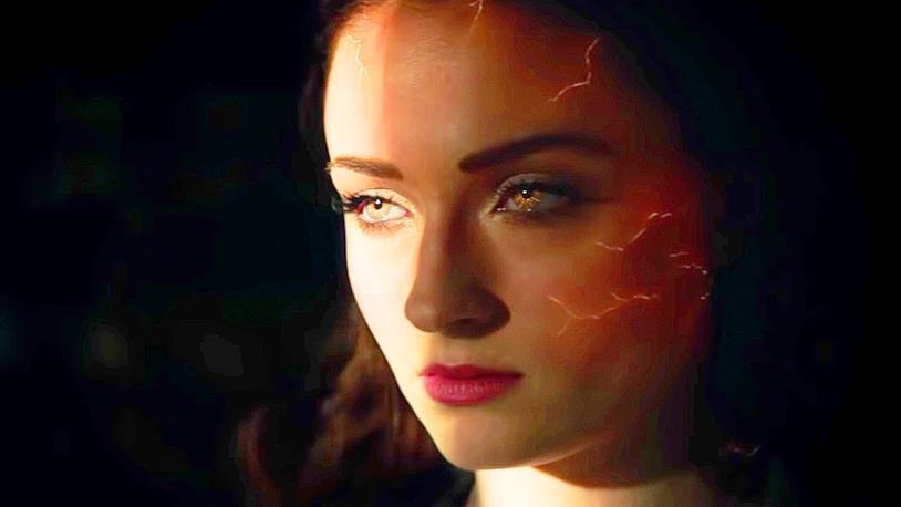 Sophie Turner in una scena di Dark Phoenix