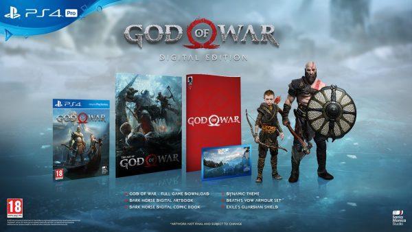 La speciale edizione digitale di God of War per PlayStation 4