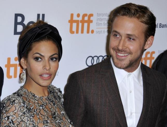 Ryan Gosling ed Eva Mendes sul red carpet del tiff