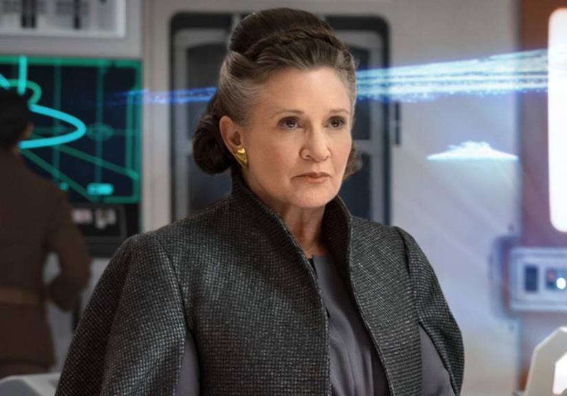 Carrie Fisher come Leia in Star Wars: Gli ultimi Jedi