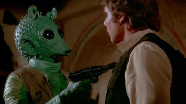 Greedo e Han Solo pronti alla resa dei conti