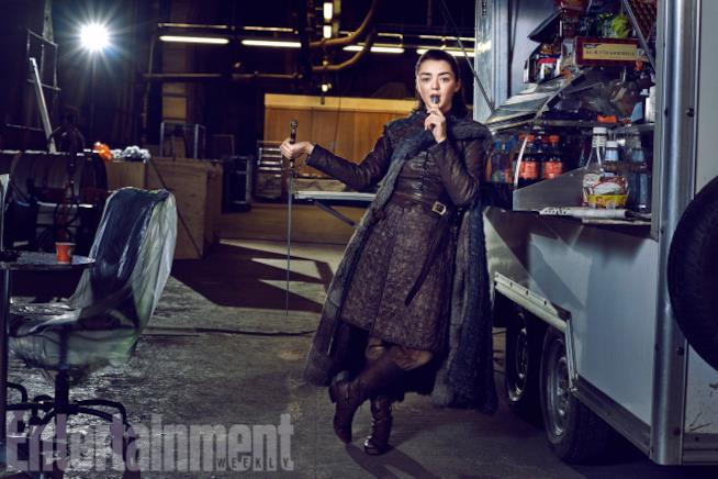 maisie williams è Arya Stark per EW