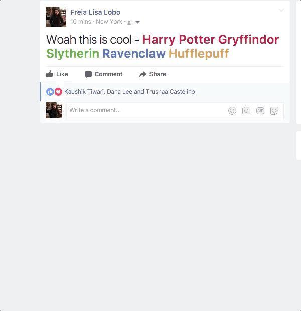 Harry Potter, easter egg su Facebook