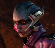 Peebee in azione in Mass Effect: Andromeda