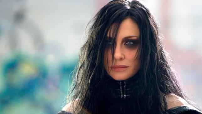 Cate Blanchett nel ruolo di Hela in Thor:Ragnarok