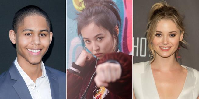 Gli interpreti di Alex, Nico e Karolina in Runaways