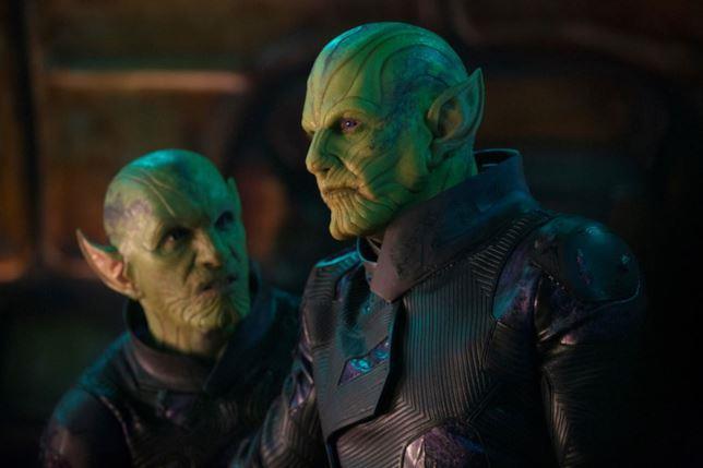 Gli alieni Skrull nel film Captain Marvel