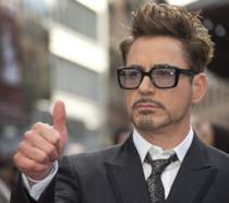 L'attore Robert Downey Jr. sul red carpet