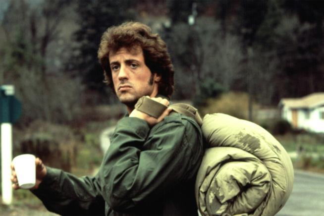Una scena di Rambo, in originale First Blood
