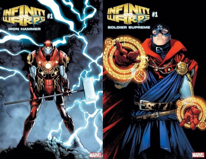 Le cover di Infinity Warps: Super Solider e Infinity Warps: Iron Hammer