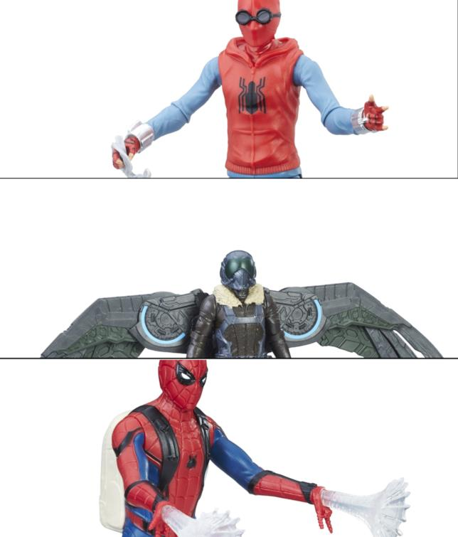 Primo sguardo alle action figures di Spider-Man: Homecoming