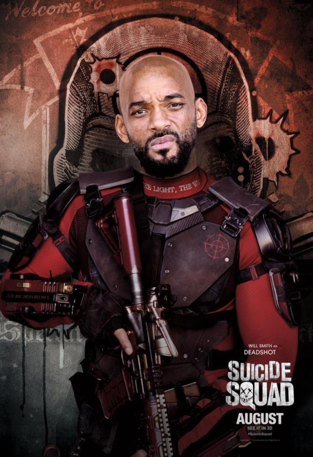 il poster di Deadshot, Suicide Squad