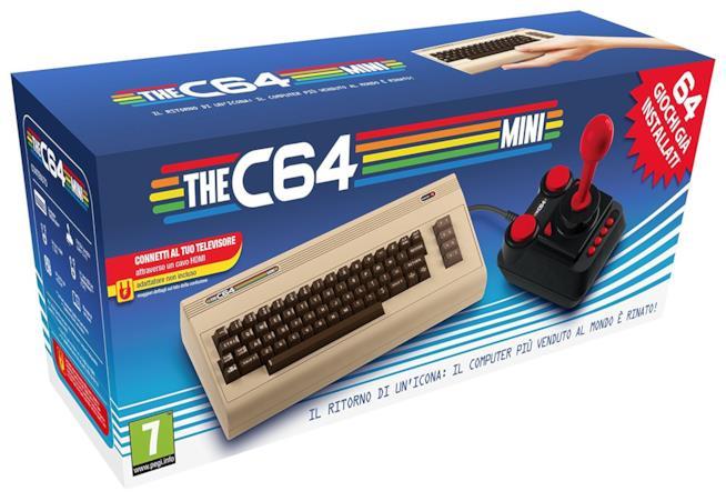 La confezione della nuova console THEC64 Mini