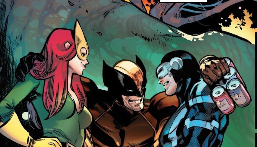 Wolverine, Fenice e Ciclope festeggiano insieme